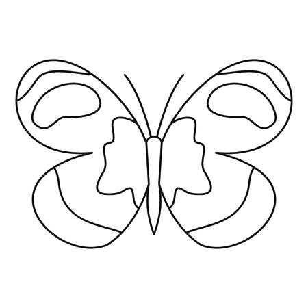 figured: Figured butterfly icon. Outline illustration of figured butterfly vector icon for web Illustration