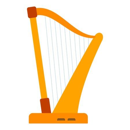 letras musicales: Icono de arpa. ilustración plana del icono de arpa vectorial para la web Vectores