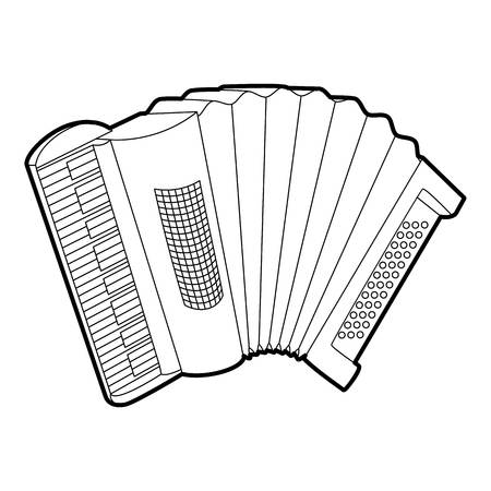 overtone: Accordion icon. Outline isometric illustration of accordion vector icon for web