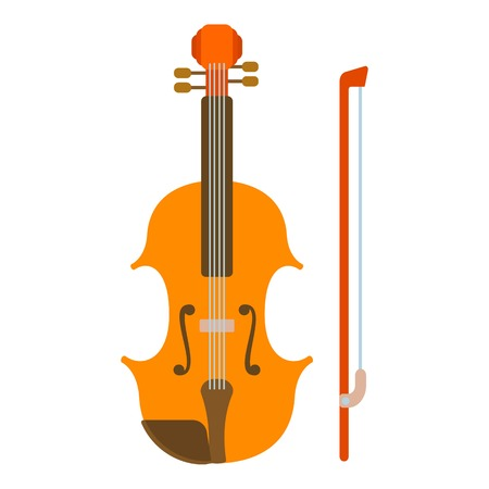 Contrabass icon. Flat illustration of contrabass vector icon for web Illustration