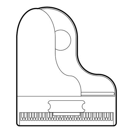 Grande icône de piano. Outline illustration de grande icône vecteur de piano pour le web