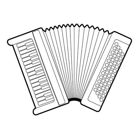 overtone: Accordion icon. Outline illustration of accordion vector icon for web