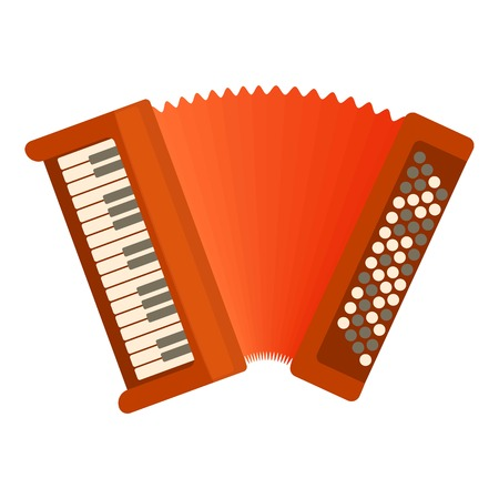 harmonic: Accordion icon. Flat illustration of accordion vector icon for web