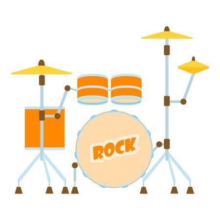 rhythm rhythmic: Drum icon. Flat illustration of drum vector icon for web Illustration