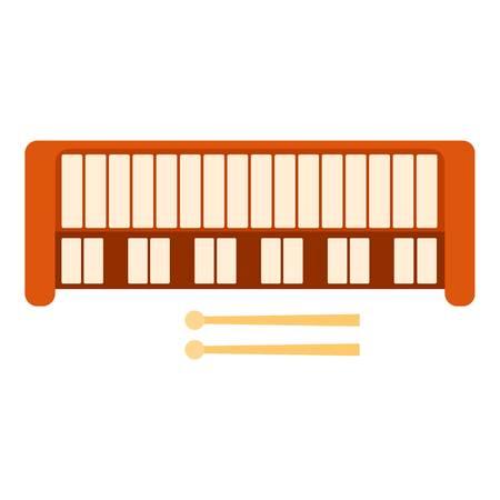 synthesizer: Synthesizer icon. Flat illustration of synthesizer vector icon for web