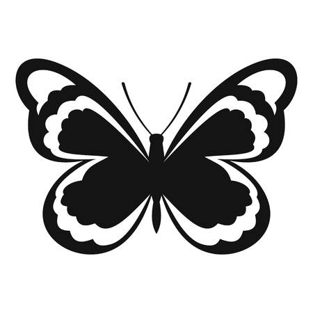 Small butterfly icon. Simple illustration of small butterfly vector icon for web Illustration