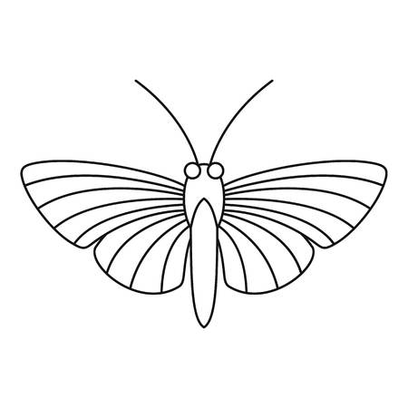 mormon: Hawk moth butterfly icon. Outline illustration of hawk moth butterfly vector icon for web
