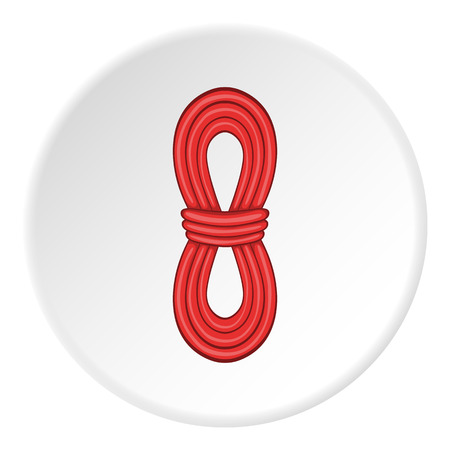 Red rope icon. Cartoon illustration of red rope vector icon for web
