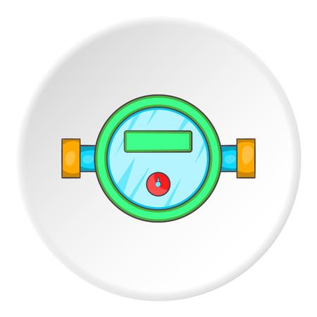 Water meter icon. Cartoon illustration of water meter vector icon for web Vektoros illusztráció
