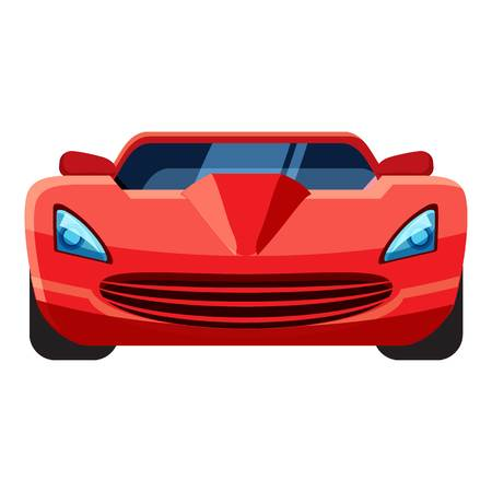 Red sport car icon. Isometric 3d illustration of vector icon for web