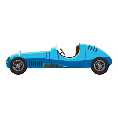 Blue sport car side view icon. Isometric 3d illustration of sport car side view vector icon for web