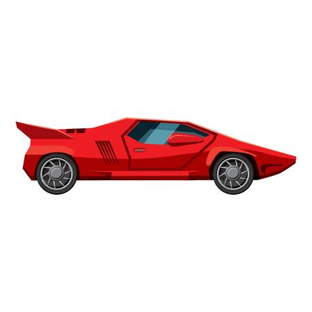 Red sport car side view icon. Isometric 3d illustration of red sport car side view vector icon for web 写真素材 - 105612297