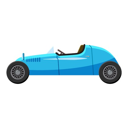 Blue sport car icon. Isometric 3d illustration of blue sport car side view vector icon for web  イラスト・ベクター素材