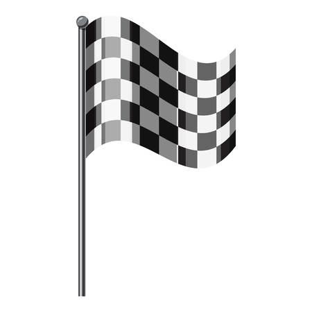Chequered flag icon. Isometric 3d illustration of chequered flag vector icon for web