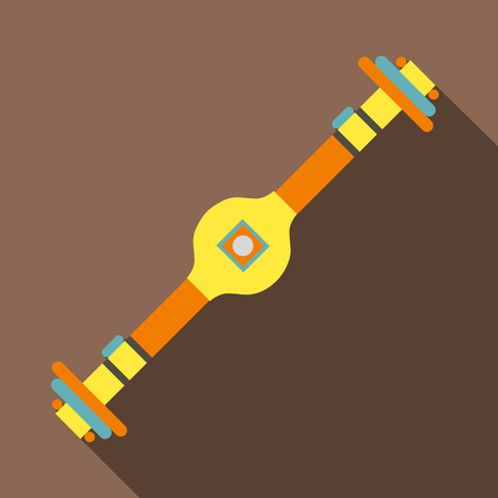 Rear axle icon. Flat illustration of rear axle vector icon for web isolated on coffee background Illustration