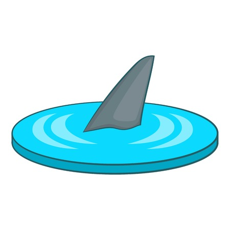 killer waves: Shark fin icon. Cartoon illustration of shark fin vector icon for web design
