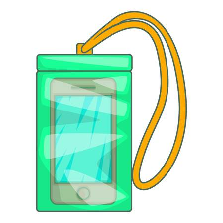 Waterproof phone case icon. Cartoon illustration of case vector icon for web design Illustration