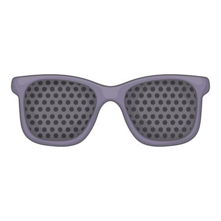 Perforating glasses icon. Cartoon illustration of perforating glasses vector icon for web design Illustration