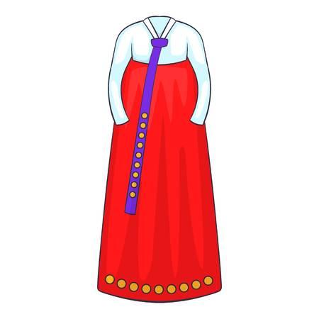 korean traditional: Korean traditional dress icon. Cartoon illustration of dress vector icon for web design Illustration