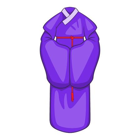 korean traditional: Korean traditional clothes icon. Cartoon illustration of korean clothes vector icon for web design