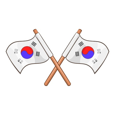 South Korea flags icon. Cartoon illustration of South Korea flags vector icon for web design Illustration