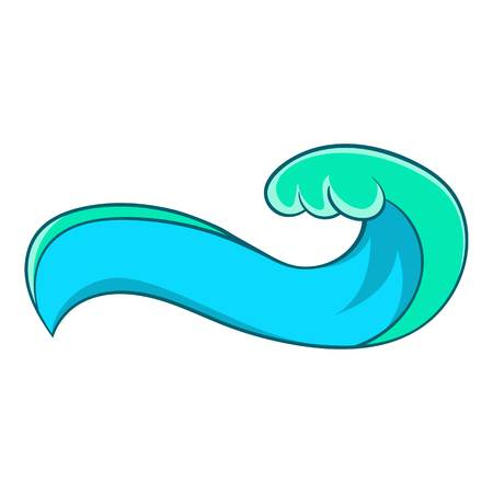 high sea: High sea wave icon. Cartoon illustration of high sea wave vector icon for web