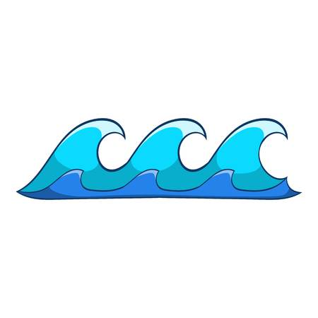 deep blue: Small waves icon. Cartoon illustration of small waves vector icon for web
