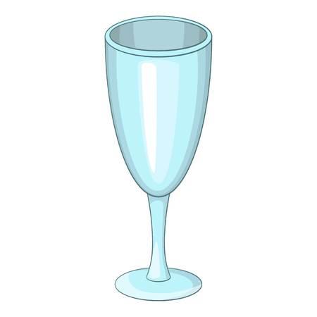 Icona bicchiere di vino. Illustrazione del fumetto dell'icona di vettore di vetro di vino per il web
