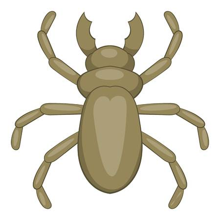 coleoptera: Beetle woodworm icon. Cartoon illustration of beetle woodworm vector icon for web