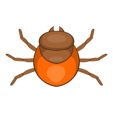 borreliosis: Tick icon. Cartoon illustration of tick vector icon for web Illustration