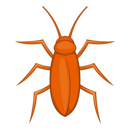 disgusting animal: Cockroach icon. Cartoon illustration of cockroach vector icon for web Illustration
