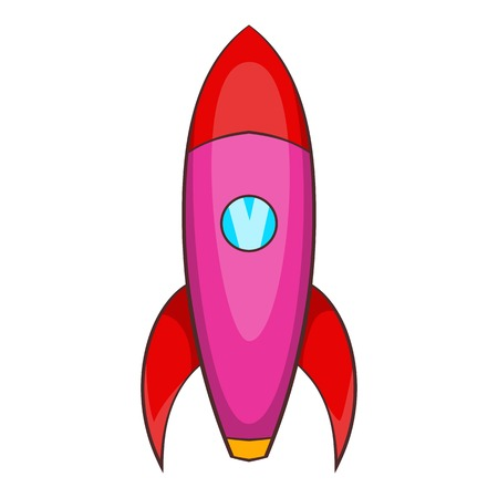Long rocket icon. Cartoon illustration of long rocket vector icon for web Illustration