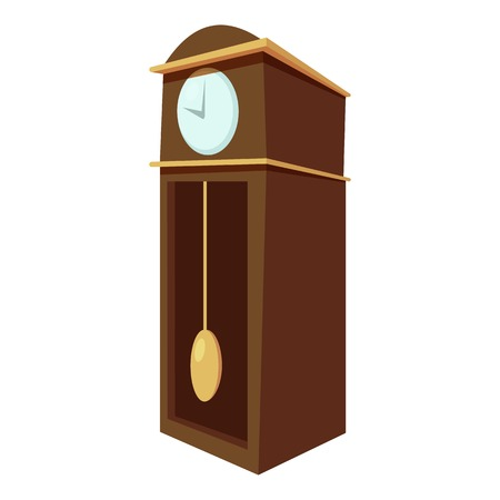 big timer: Large wall clock icon. Cartoon illustration of large wall clock vector icon for web