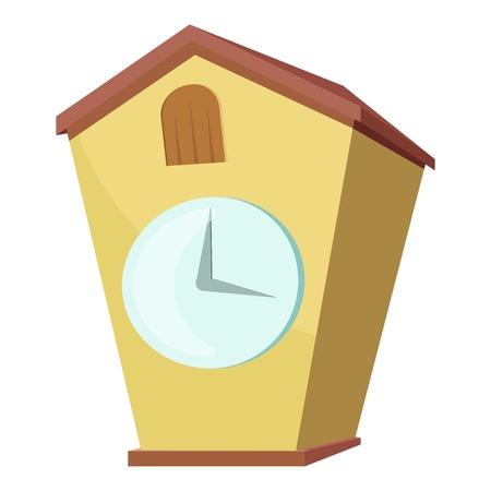 reloj cucu: icono del reloj de cuco. Ilustración de dibujos animados de reloj de cuco de iconos de vectores para la web