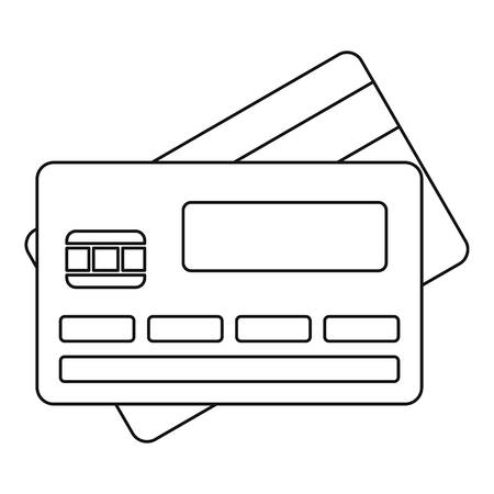 owner money: Credit card icon. Outline illustration of credit card vector icon for web