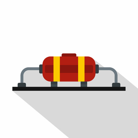 Oil production icon. Flat illustration of oil production vector icon for web Illustration