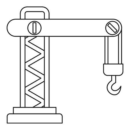 heavy equipment: Crane icon. Outline illustration of crane vector icon for web