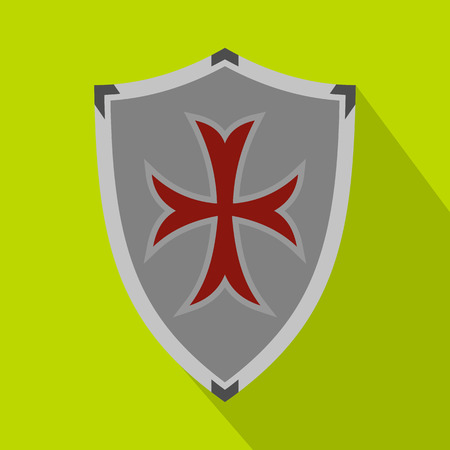 protective shield: Protective shield icon. Flat illustration of protective shield icon for web Illustration