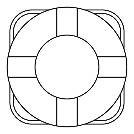 ful: Lifeline icon. Outline illustration of lifeline vector icon for web