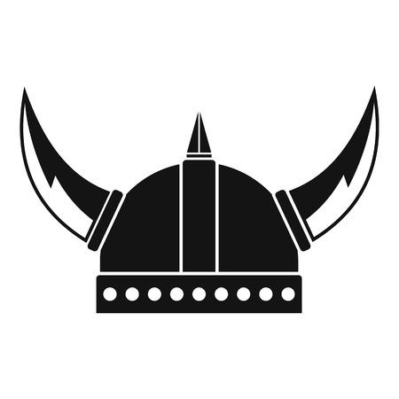 Viking helmet icon. Simple illustration of viking helmet vector icon for web Vector Illustration