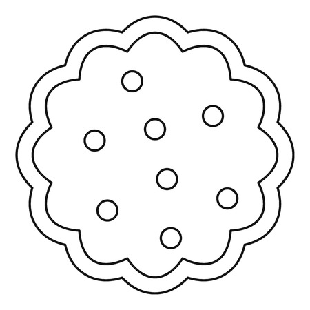 Cookies icon. Outline illustration of cookies vector icon for web