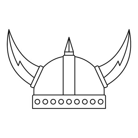 Viking helmet icon. Outline illustration of viking helmet vector icon for web Illustration