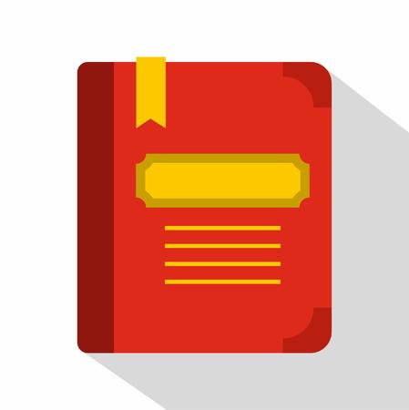tutorial: Tutorial with bookmark icon. Flat illustration of tutorial with bookmark vector icon for web Illustration