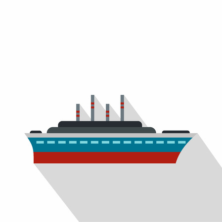 water quality: Ship icon. Flat illustration of ship vector icon for web