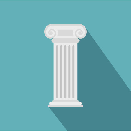 Roman column icon. Flat illustration of roman column vector icon for web