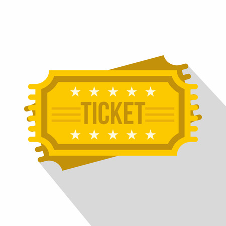 Ticket icon. Flat illustration of ticket vector icon for web