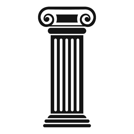 Roman column icon. Simple illustration of roman column vector icon for web