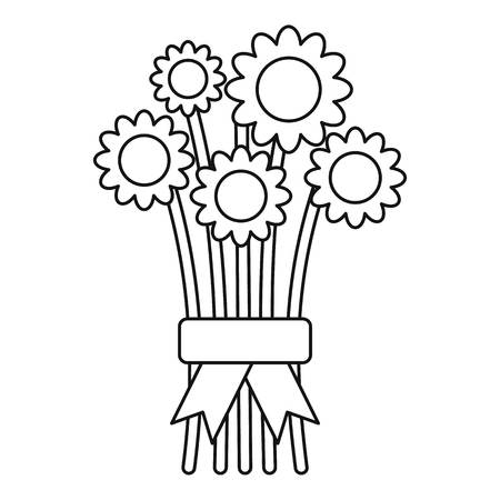 fragrant bouquet: Bouquet of flowers icon. Outline illustration of bouquet of flowers vector icon for web