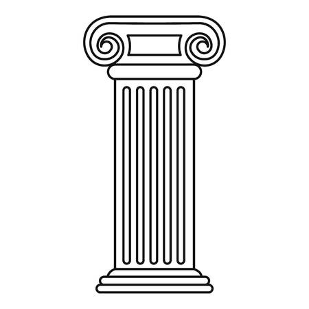 Roman column icon. Outline illustration of roman column vector icon for web Illustration