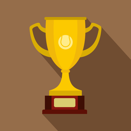gold cup: Gold cup icon. Flat illustration of gold cup vector icon for web